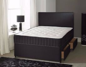 Double Bed Two Drawers Mattress & Headboard £165 BRANDNEW in The Wrapper Can Deliver Today