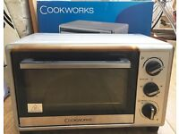 Cookworks Mini Oven - Stainless Steel- 2 months old with WARRANTY