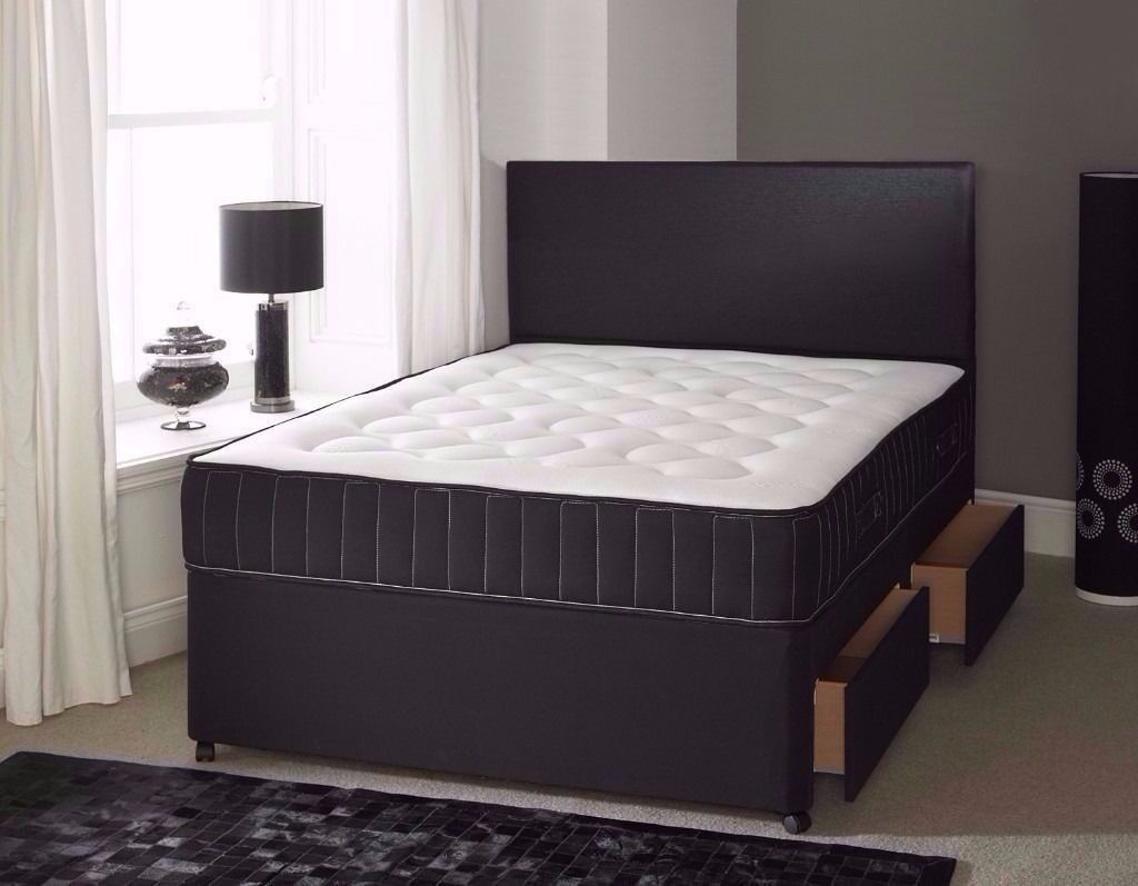 ★★ MEMORY FOAM BED ★★ DOUBLE DIVAN BED BASE WITH MEMORY FOAM ORTHOPEDIC MATTRESS