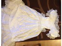 Wedding dress size 10 - 12. White.