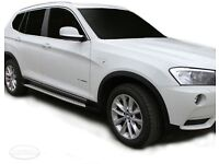 For BMW X3 F25 2010 ON Aluminium ABS Side Steps Bars Running Boards Black / Silver
