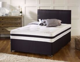 【HIGH QUALITY BED】DOUBLE DIVAN BED WITH 2000 POCKET SPRUNG MATTRESS BRAND NEW SAME DAY DELIVERY