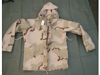 NEW - Genuine US Army GORETEX ECWCS Desert DCU Parka - size Medium US (Large UK)