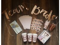 'Team Bride' Hen Party Decorations by Ginger Ray - Collection only