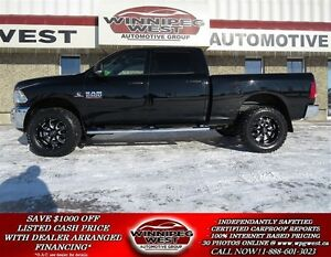2014 Dodge Ram 2500 BLACK CUSTOM CREW 4X4, CUMMINS DIESEL, LOADE