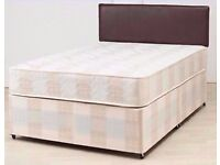 🔴🔵100% PRICE Match🔴🔵BRAND NEW-Divan Double Bed Deep Quilted Mattress,Storage & Headboard Options