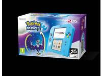 Nintendo Handheld Console 2DS with Pokemon Moon LIMITED EDITION