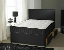 ⭐🆕HALF OFF SALE LUXURY DIVAN BED BASES with choice of SEMI ORTHOPEDIC MATTRESS