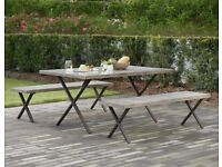 New Garden Table & Benches Worth £879.99 - no chairs