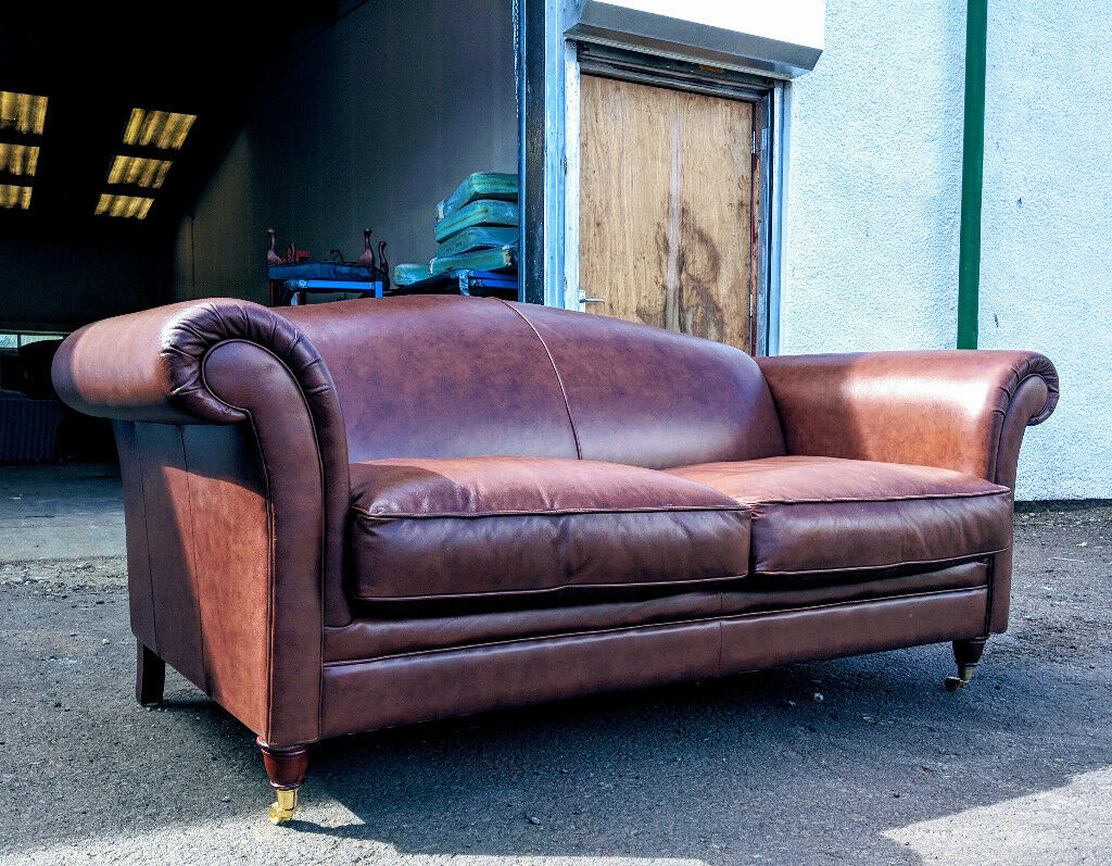 Strange Laura Ashely Gloucester Camel Back Brown Leather Sofa In East End Glasgow Gumtree Ibusinesslaw Wood Chair Design Ideas Ibusinesslaworg