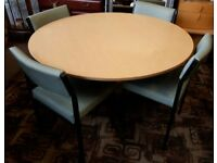 Office Meeting Dining Table with Four Chairs