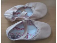 Pink ballet shoes size 12 - worn once
