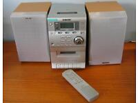 Sony CD Cassette Deck, Speakers and Remote £30 OVNO