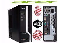 ACER 4GB 320GB DVD Fast Windows 7 Pro 64 bit Desktop PC Computer Base Unit bankholiday