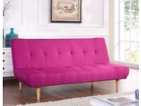 Sofabed Brand New Fabric 3 Seater Padded Designer Wooden