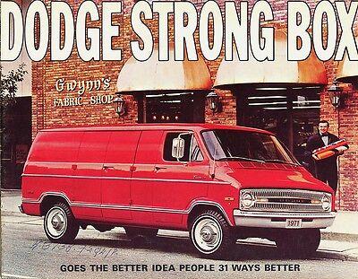 1971 Dodge Tradesman Van Strong Box B100 B200 B300 Dealer Sales -
