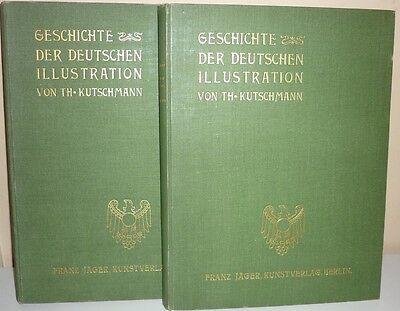 GESCHICHTE DER DEUTSCHEN ILLUSTRATION - 2 Bände (um 1900)