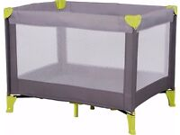 Travel cot new and boxed
