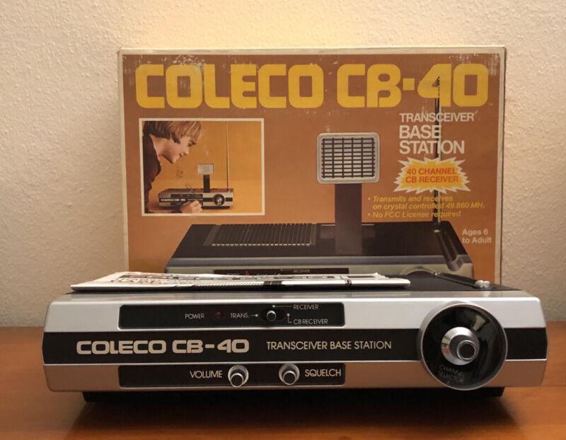 COLECO CB-40 RADIO BASE STATION 1977 40 Channel CB Reciever