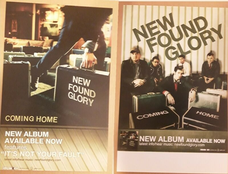 NEW FOUND GLORY Promo Poster - Coming Home - 2 Sided