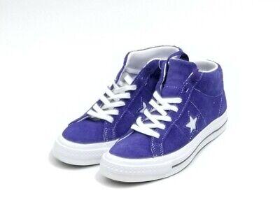 Converse One Star Unisex Mid Vintage Purple/White Suede 162578C Sz M 7.5-W 9.5