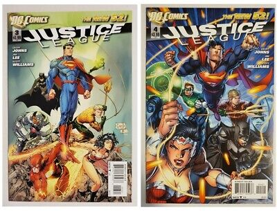 JUSTICE LEAGUE #3 CAPULLO & #4 KUBERT 1:25 VARIANT COVER NM OR BETTER (Best Justice League Comics)