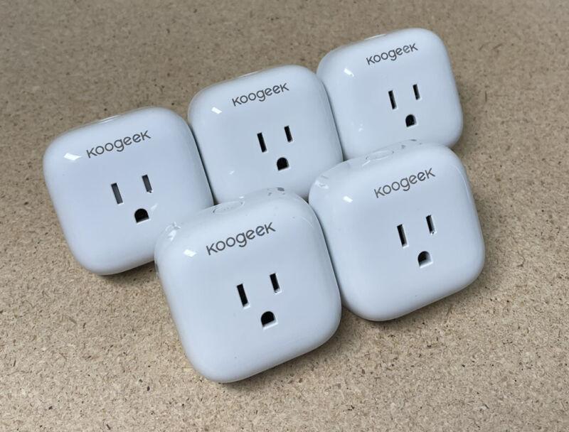Lot Of 5 - Koogeek Smart Plug P1 - Works with Apple HomeKit