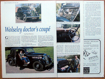 Wolseley 12/48 Doctor's coupe from 1937
