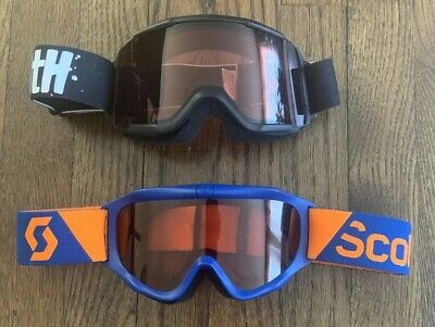 2 Scott And Smith Optics Youth Snow Goggles Black And Blue Yellow (Scott Optics)
