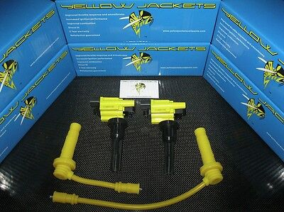 YELLOW JACKETS COIL PACKS - MITSUBISHI EVOLUTION EVO 4 5 6 7 8 9 - BRAND NEW