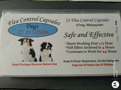 Flea Control Capsules Dogs 25-125lbs. NOW $12.99 (6 pack) +6 FREE CAPS BEST DEAL