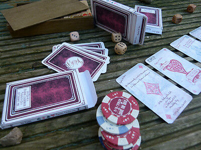 Unique Wedding Invitations Poker / Casino / Vegas Vintage Playing Cards In A Box