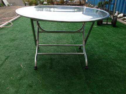 STAINLESS STEEL  FOLDABLE TABLE  BAR TABLE RECEPTION DECK CHAIRS