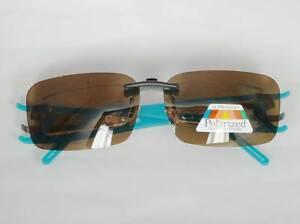 Sonnenclip Sonnenvorhänger Brillenclip für Switch it Clip On polarisierend Neu