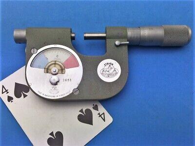 Etalon 0-1 Indicating Micrometer No. 1651 .0001 Carbide Faces Switzerland