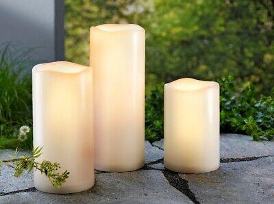 LED-Kerzen in Jumbogröße, 3er-Set Deko mit Farbwechsler Dekoration Fernbedienung