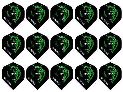 5 New Sets Winmau 3D Metallic Standard Dart Flights – Wolf Man