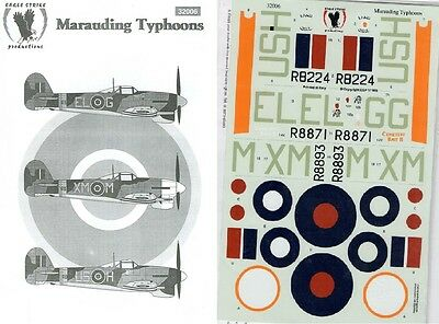 EAGLE STRIKE PRODUCTIONS 32006 DECALS 1/32 MARAUDING TYPHOONS