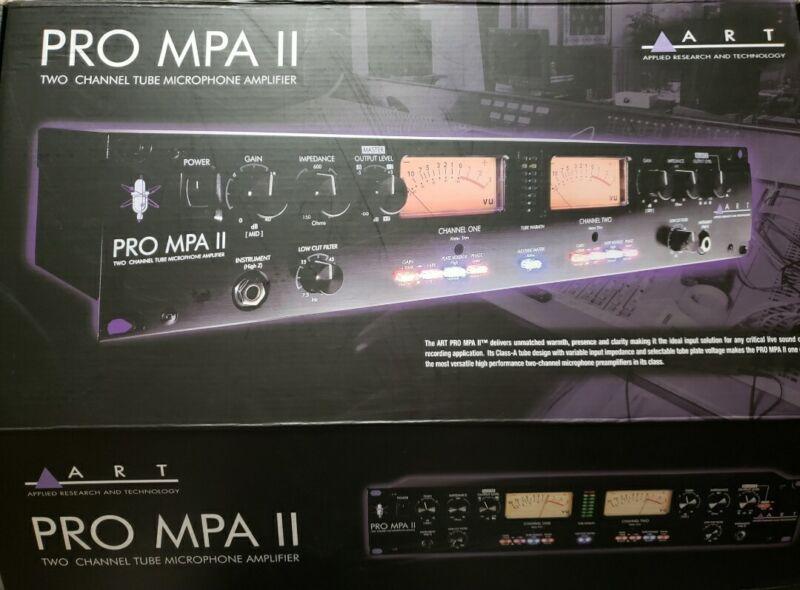 Art Pro MPA II Two Channel Mic Preamp