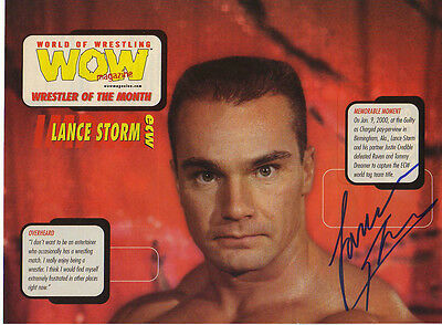 WWE WWF LANCE STORM AUTOGRAPHED HAND SIGNED 8X10 PHOTO WRESTLING PICTURE