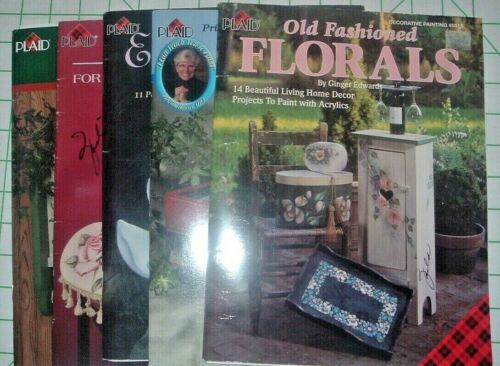 LOT OF 5 INSTRUCTION BOOKS - By Plaid - ACRYLIC PAINTING INSTRUCTION