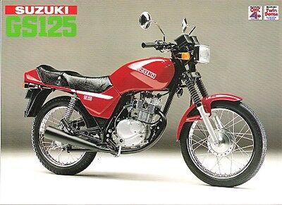 Suzuki GS125 Japan English Sales Brochure  GS125Z