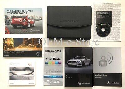 2017 Mercedes SL450 SL550 SL63 SL65 Owners Manual Set + Bang Olufsen Music Disc