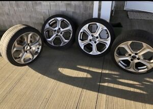4 BOLT FORD FIESTA ST ALLOY RIMS AND TIRES