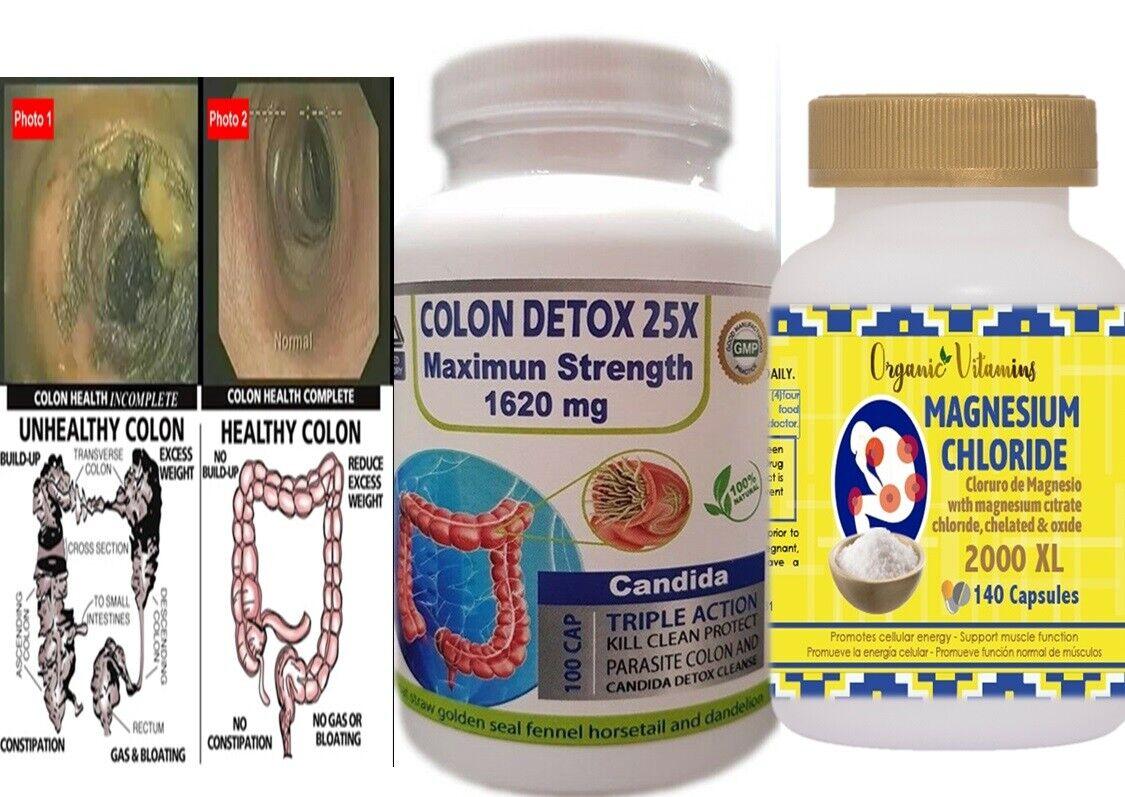 Organic Complete Detox / super Limpieza suave 240 capsules TOTAL OVERNIGHT CLEAN