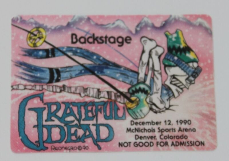 Grateful Dead Backstage Pass 12-12-90 McNichols Sports Arena Denver Colorado