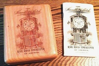 Kyпить Wood Hamilton Watch box-For 16 size or 18 size Pocket watches на еВаy.соm