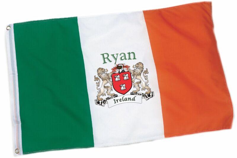 Ryan Irish Coat of Arms Flag - 3