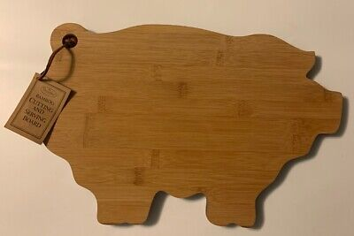 Pig Shaped Cutting Board (Brownlow Gifts Bamboo Cutting & Serving Board, Pig -Shaped)