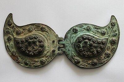 Antique Bulgarian Folklore Brass Belt Buckles Pafti 18 Century